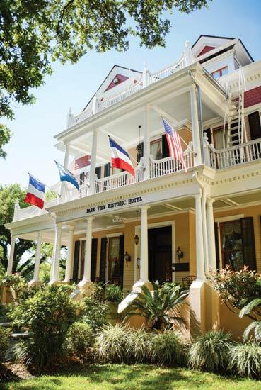 Historic Hotel on St Charles Avenue near Tulane University